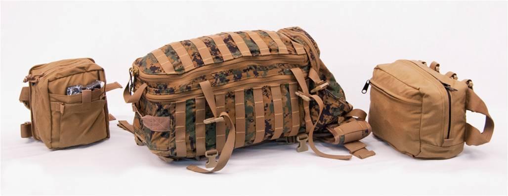 Corpsman Assault Pack with ALS leg kit and combat trauma bag