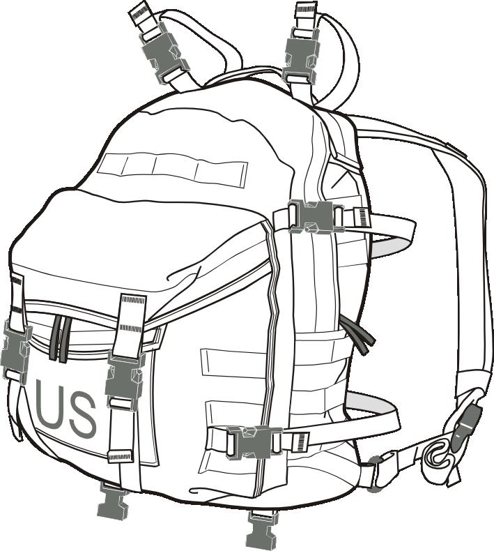 MOLLE II assault pack