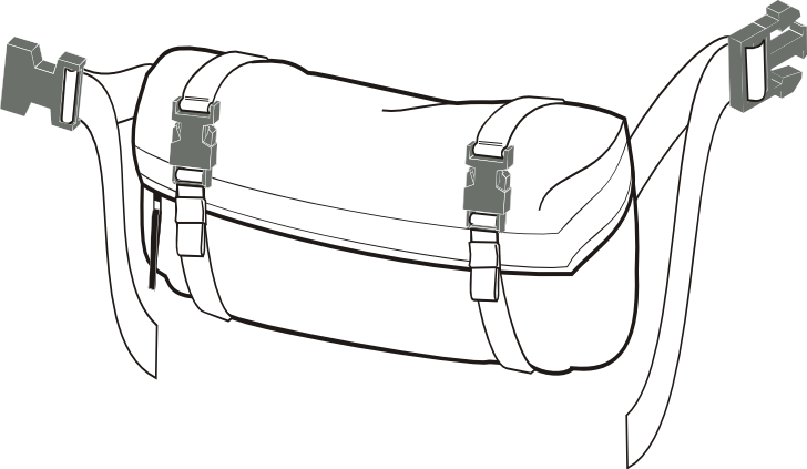 MOLLE II waist pack stand alone config
