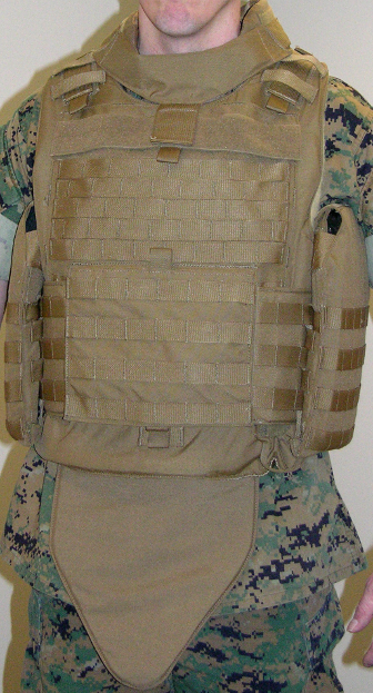 MTV with external side plate pockets